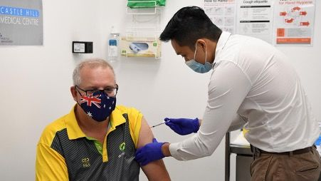 Australian Prime Minister vaccinated