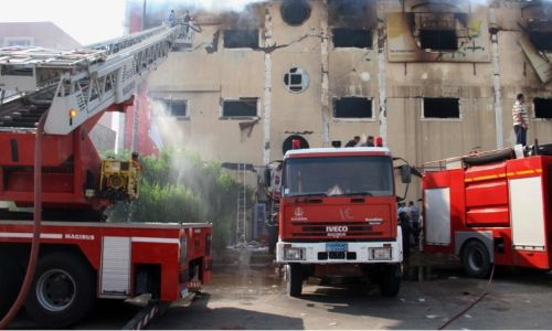 At least 20 dead in clothing factory fire in Egypt
