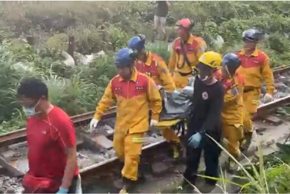 At least 45 killed after Taiwan train derails in tunnel