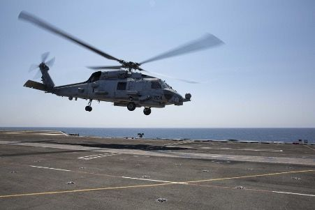 US helicopter crashes into sea
