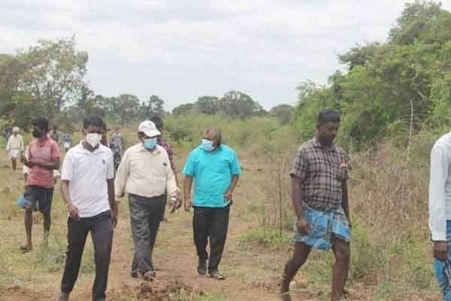 Land grabbing from Tamil people halted